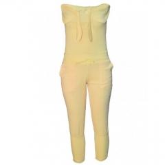 Yellow Ladies Jumpsuit yellow m