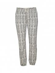 Beige Printed Jogger Pants beige s