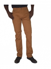 Straight Fit twill Pants brown 8