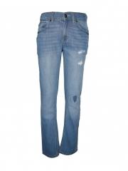 Light Blue Destructed Slim Fit Boys Pants light blue 10