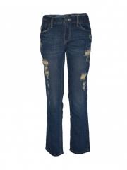 Blue Destroyed Boys Denim Jeans blue 8