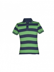 Green Stripped Mens Polo Shirt green stripped s