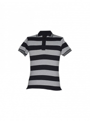 Grey Stripped Mens Polo Shirt grey stripped s