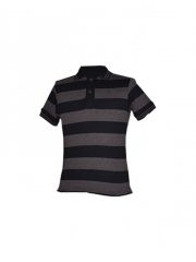 Brown Stripped Mens Polo Shirt brown stripped s
