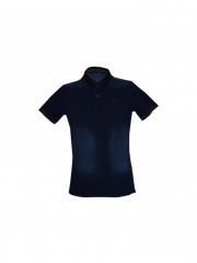 Blue Mens soft Denim Polo Shirt blue s