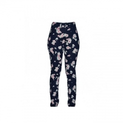 Navy Flowered Women's Skinny Pants navy flowered 6