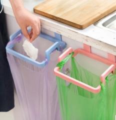 4 Pcs The kitchen Garbage Bag Rack mix-color 19*14*5cm