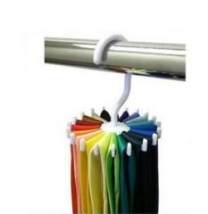 5 Pcs 360° Rotatable Tie rack 20 Hook Black
