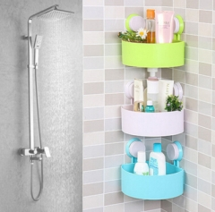 2Pcs Magic Suction Draining Bathroom Shelf Storage Rack