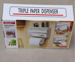 Triple Paper Dispenser White 38*19*7.5cm