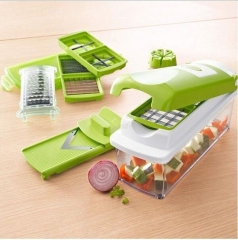 Multifunctional shredder Kitchen tools 13Pcs/set Green 30*12*15cm