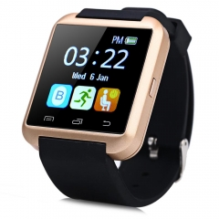 U8S Outdoor Sports Bluetooth 3.0 Smart Watch with Remote Camera Golden One Size