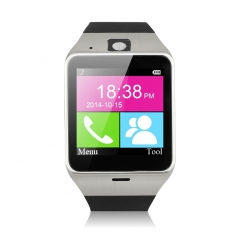 Excelvan NFC Bluetooth & Unlocked SIM Phone Watch With Camera and Function Of Call Music Reminder Black One Size