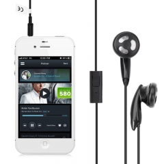 3.5MM In-Ear Headphone with Mic Hands Free Black