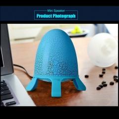 Wired Desktop Portable Subwoofer Speaker Light with Seven Colors LED Light Blue 5W None