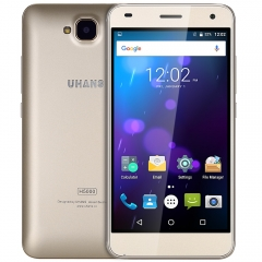 UHANS H5000 Android 6.0 5.0 inch 4G 3GB RAM 32GB ROM Dual Cameras 4500mAh Battary Smartphone Golden
