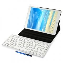 4 in 1 Wireless Bluetooth Keyboard Stylus Pen 360 Degree Rotating Smart Case Cover Screen Film Black One size
