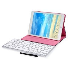 Wireless Bluetooth Keyboard Stylus Pen PU Leather Smart Case Cover for iPad Air 2 Black One size