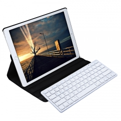 Wireless Bluetooth Keyboard Stylus Pen 360 Degree Rotating PU Leather Smart Case Cover Black One size