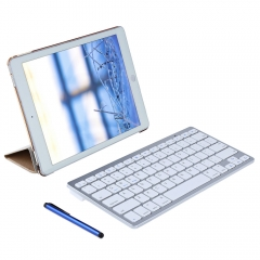 4 in 1 Leather Stand Smart Cover Case with Wireless Bluetooth Keyboard for iPad Pro 9.7 Golden One size