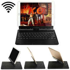 2-in-1 Wireless Bluetooth 3.0 Keyboard + 360 Degree Rotating Stand Black One size
