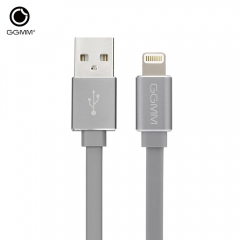 GGMM AC - 05 MFi Certification 8 Pin 2.4A Data Charger Cord Gray