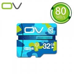 OV  Micro SDHC Camouflage Version Class 10 Green None 32g Memory Card