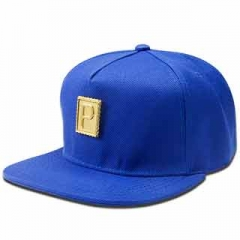 "New letter ""P"" fashion hip hop twist cap fashion men and women baseball cap Blue one size"