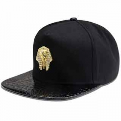 Little Pharaoh pattern of men and women of fashion hip-hop style fashion peaked cap cap baseball cap Black one size