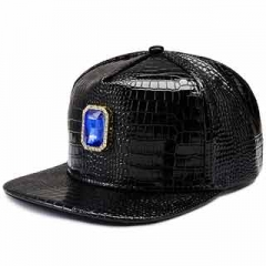 Hats & Caps Leather Hat with gems fashion hip hop style hat fashion men and women are practical hat Blue one size