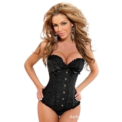 Women Body Shaper tight Vintage Corset Waist Cincher Breast Lifter Sexy Slimming Underwear 5-6XL