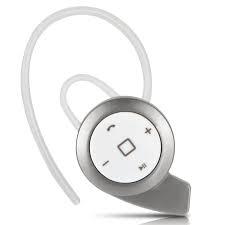 New stereo headset bluetooth earphone headphone mini V4.0 with earhook Silver Universal Fit