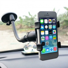 Universal 360°Rotation Lazy Car Mount Holder Bracket for GPS Mobile Phone black 1 pcs