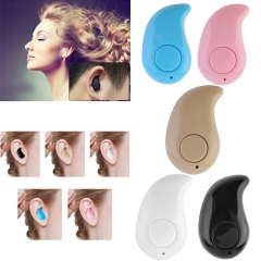 Mini Wireless Bluetooth 3.0 Stereo In-Ear Headset Earphone Earpiece Universal Black
