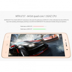 HOMTOMHT17Pro Fashionable Design Power Saving Smart Phone For Android 6.0 Gold