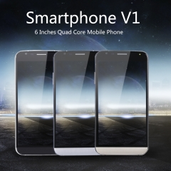 6 Inches Quad Core Mobile Phone Touch Screen Smartphone V1 For Android 6.0 Black