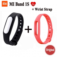 Original Xiaomi Mi Band 1S Smart Wristband Xiaomi band Fitness Tracker Military-grade Monitor miband black one size