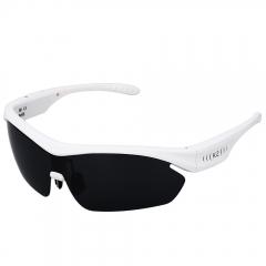 K2 Bluetooth V4.0 Polarized Glasses Voice Control Sunglasses Earphones Smart Touch Headphones white
