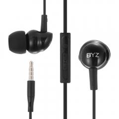 BYZ SE371 Universal 3.5MM Plug Earphones Stereo Music Headphones black