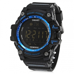 Sport Smart Watch Pedometer Stopwatch Call Message Reminder blue one size