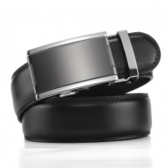 Fashion Automatic Buckle Mens Waistband Real Genuine Leather Belts