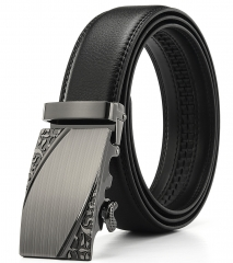 Luxury Fashion Automatic Buckle Mens Waistband Genuine Leather Belts
