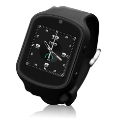 Connect Me 2016 3G cellphone smart watch, Wifi, Dual BT, Heart Rate, One key SOS, Android 5.1,camera BLACK 1.5 inch