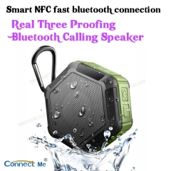 Smart NFC Bluetooth wireless calling speakers IP65 water proofing over 72 hours working time orange 90*80*40mm