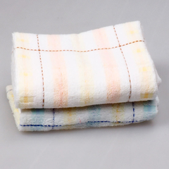 32*72 CM 100% Cotton Towel Home Using Hand Towels for Adults Plaid natural color Towels