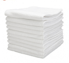 10 Pcs Washable Reuseable Baby Cloth Diapers Nappy inserts microfiber 3 layers White one size