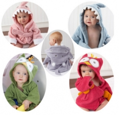 5 Colors100% Cuttons Hooded Animal Baby Bathrobe Cartoon Baby Towel