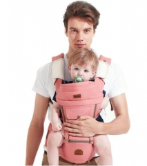Bebear Baby Ergonomic Baby Carriers Sling Backpack Breathable Multifunctional Baby Carry Bag Pink one size