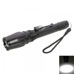 1200Lumen XML-T6 LED 5 Mode Focusing LED Flashlight Torch Aluminum Black black one size 10w