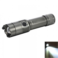 2000LM 3Modes XM-L T6 Zoomable LED Flashlight Focus Torch  Gun Color Gray one size 15w